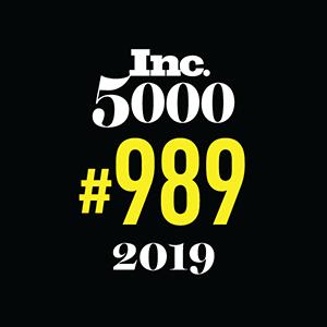 Inc 5000 Award 2019